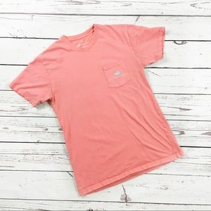 Southern Marsh pocket t-shirt fish coral medium